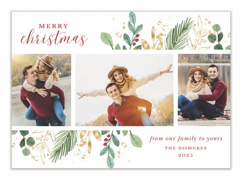 Holiday Reflection Holiday Photo Card