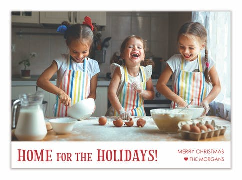 Home for the Holidays! Holiday Photo Card