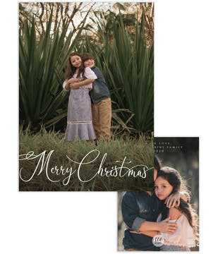 Casual Merry Christmas Holiday Photo Card