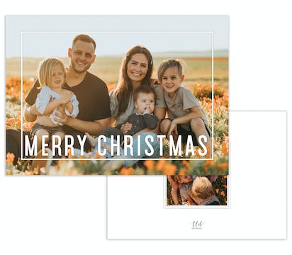 Framed Merry Christmas Holiday Photo Card