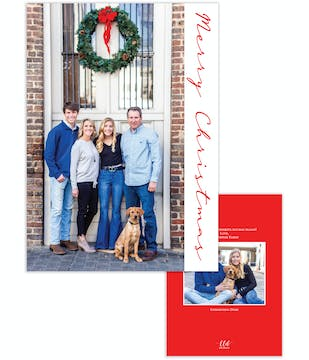 Side Merry Christmas Holiday Photo Card