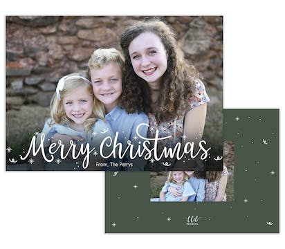 Confetti Christmas Holiday Photo Card