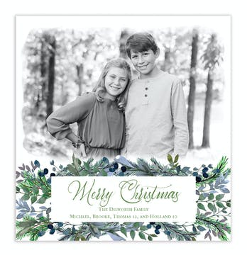 Flourishing Holiday Photo Card