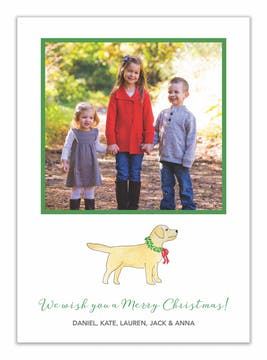 Furry Friends Holiday Photo Card - Click Personalize to Choose from Different Animals