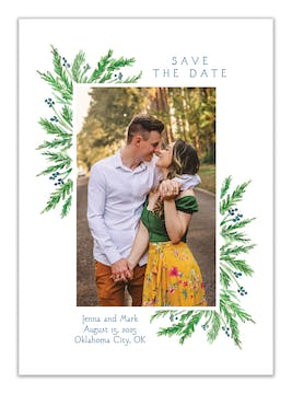 Juniper Berry Photo Save the Date