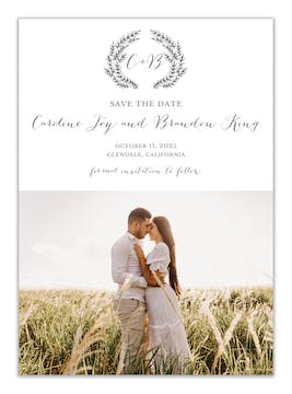 Brooks Vines Photo Save the Date