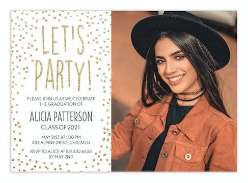 Confetti Party Photo Invitation