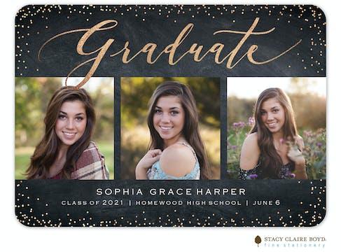 Glitz Grad Photo Card
