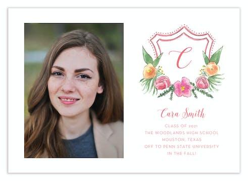 Floral Crest Photo Card