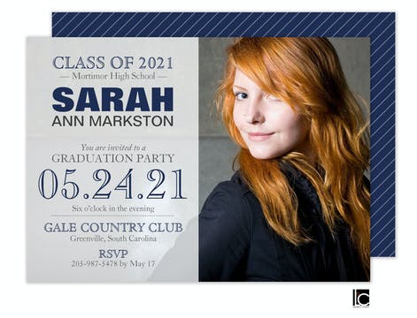 Overlay Graduation Invitation