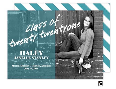 Color Overlay Graduation Announcement