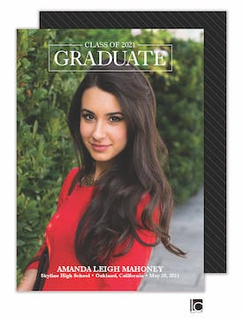 Simple Type Graduation Photo Card