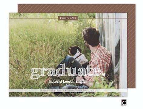 Textured Type Graduation Photo Card