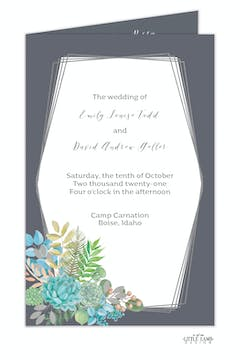 Bright Succulents Foil-Pressed Folded Program