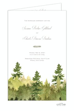Watercolor Forest Folded Program