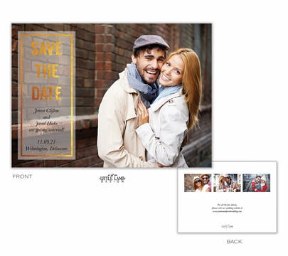 Glowing Save The Date Card