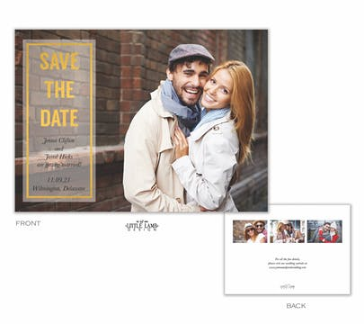 Glowing Foil Foil-Pressed Save The Date Photo Card