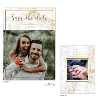Marbled Save The Date Card