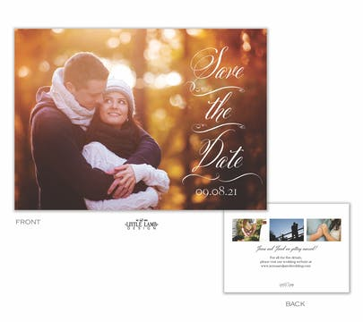 Scrolled Save the Date-Photo