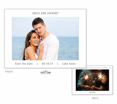 Modern Save the Date-Photo