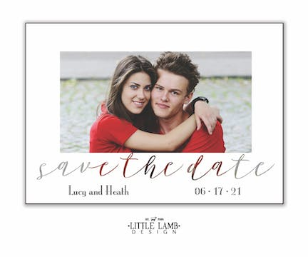 Transparent Save The Date Magnet