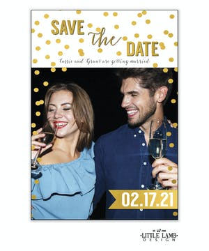 Sparkles Save The Date Magnet