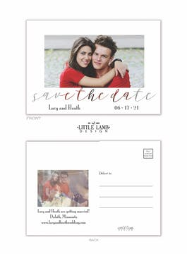 Transparent Save the Date Postcard