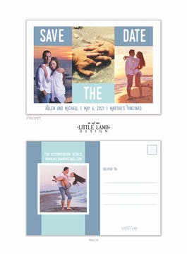 Something Blue Save the Date Postcard