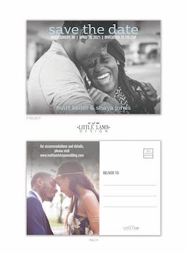 Simply Save the Date Postcard