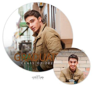 Round Foil Graduate Photo Card Announcement
