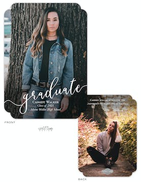 Graduate Photo Card Announcement