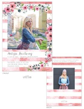 Soft Floral Photo Card Announcement