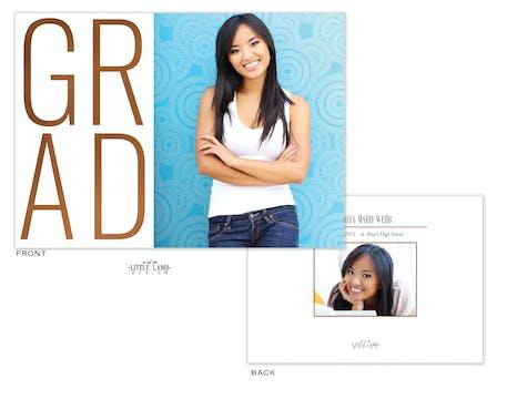 Mod Grad Photo Card Announcement