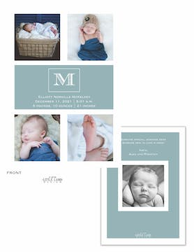 Monogram Showcase Baby Multi Photo Baby Announcement