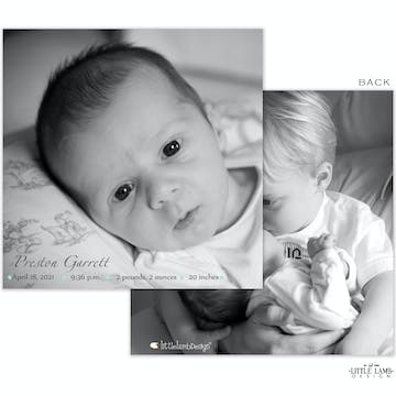 Full Photo Boy Photo Square Birth Announcement