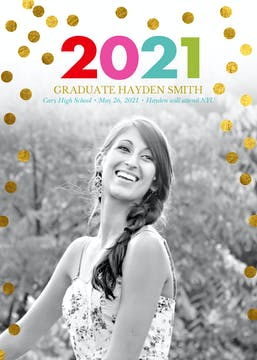 Live In Color Photo Graduation Card