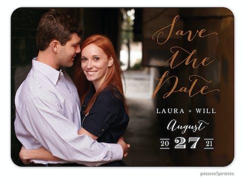 Foil Lettered Love Photo Card