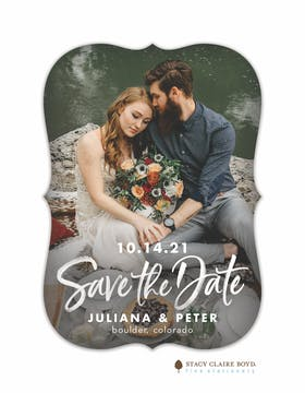 Cherished Day Photo Save the Date