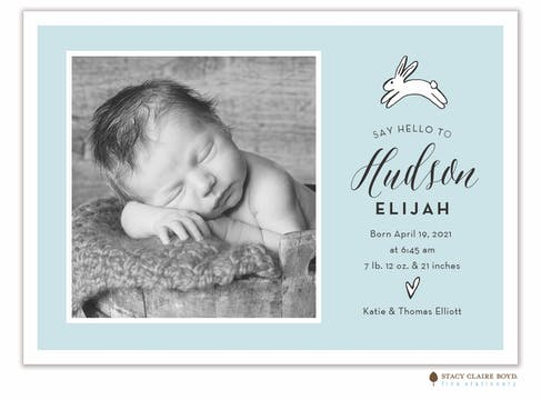 Leap With Joy Photo Birth Announcement