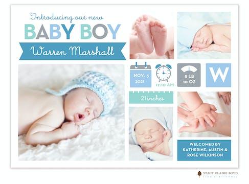Bright Arrival Photo Birth Announcement