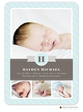 Little Letters Photo Birth Announcement