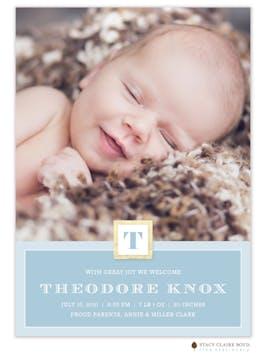 Shining Start Photo Birth Announcement