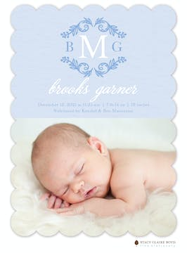 Proudly Presenting Photo Birth Announcement