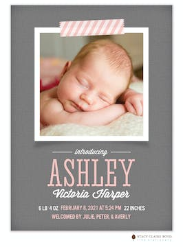Brand New Photo Birth Announcement