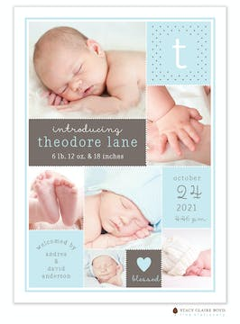 Darling Layers Photo Birth Announcement