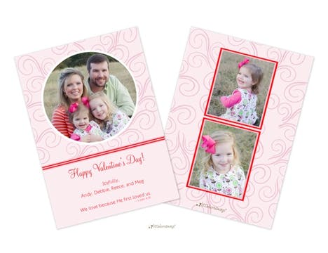 Swirly Valentine Flat Photocard