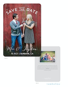 Sweet Embrace Photo Save The Date Card