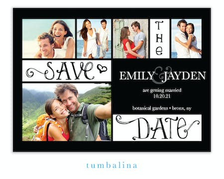 Collage White Photo Save The Date Magnet