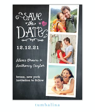 Portraits Chalkboard Photo Save The Date Magnet