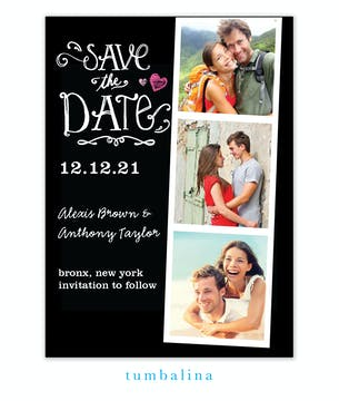Portraits Black Photo Save The Date Magnet